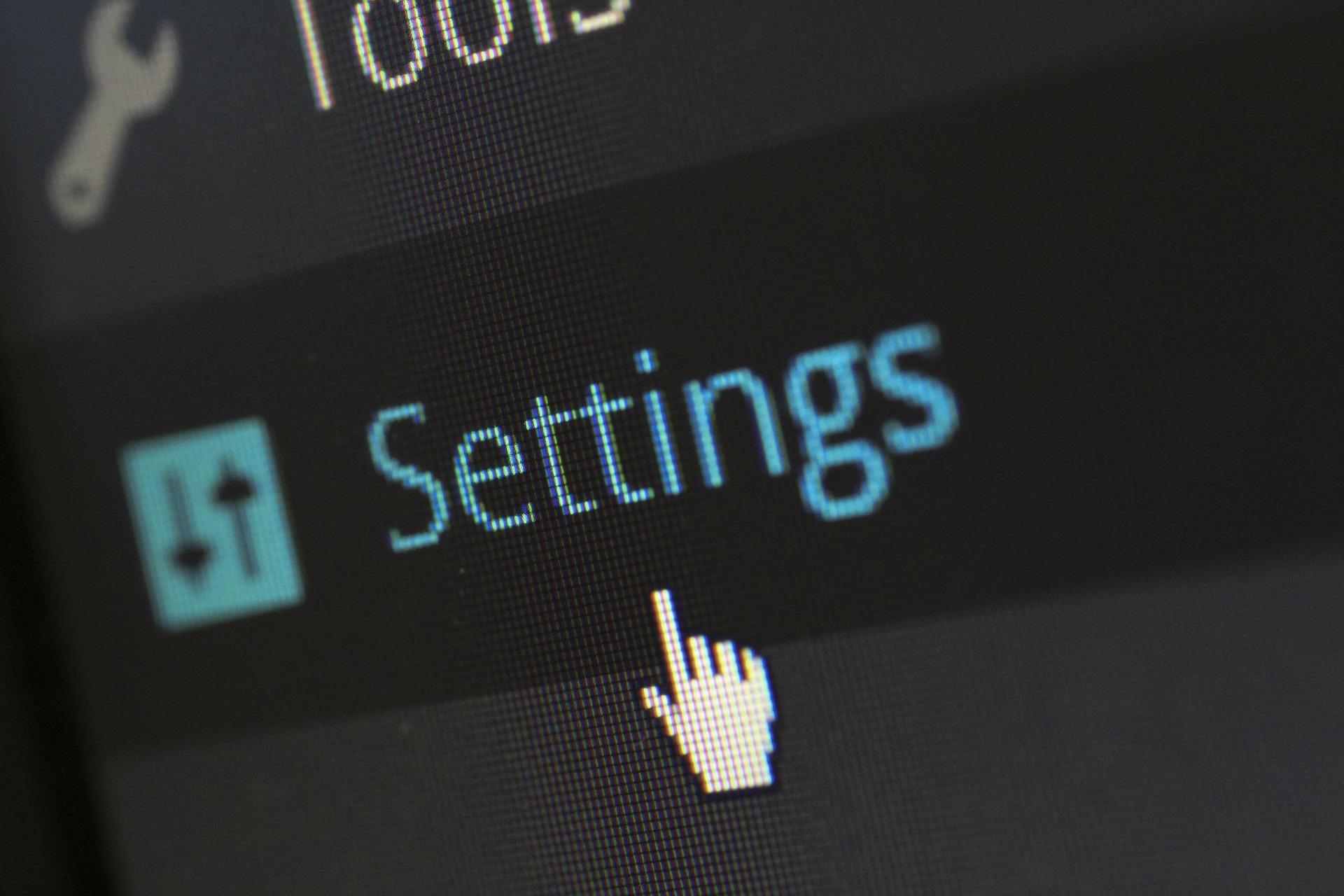 Button für Einstellungen bei Wodpress Caching Plugin width=