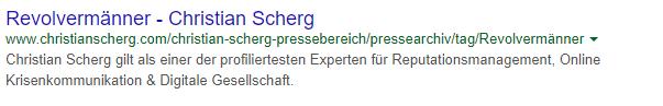 Google Snippet mit normaler Meta Description