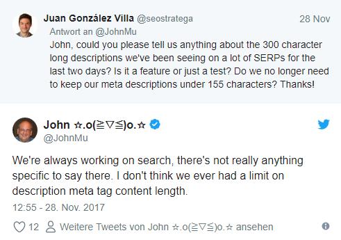 Tweet John Mueller